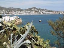 Ibiza-Landschaft von der Festung lizenzfreies stockbild