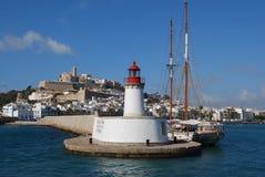 Ibiza lighthouse Royalty Free Stock Photo
