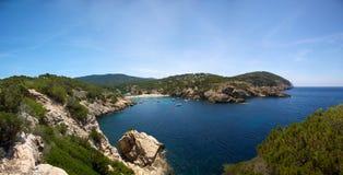 Ibiza mediterranean coast line Royalty Free Stock Photography