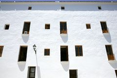 Ibiza Mediterranean island architecture houses Stock Photo