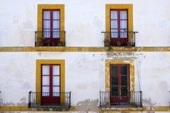 Ibiza Mediterranean island architecture houses Stock Image