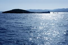 Ibiza mediterranean island blue seascape Stock Image