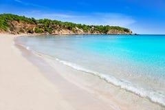 Ibiza mit Türkiswasser in balearischem Stockfotos