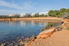 Ibiza naturalna skała i oceanu krajobraz Fotografia Stock