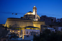 Ibiza in night Royalty Free Stock Photos