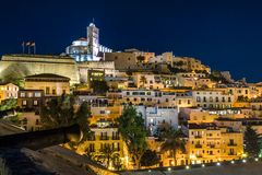 Ibiza old town Dart Vila Royalty Free Stock Images