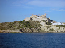 Ibiza Old Town seen from the sea. The old Town Ibiza, Eivissa, seen from the east side Stock Images