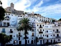 Ibiza oude stad stock foto