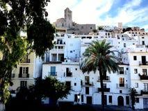 Ibiza oude stad royalty-vrije stock afbeelding