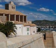 Ibiza oude stad Stock Foto's