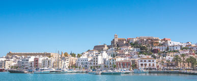 Ibiza in panoramic view Stock Photo