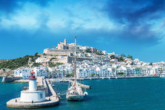 Ibiza Port on a beautiful day. Balearic Islands Royalty Free Stock Photos