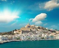 Ibiza Port on a beautiful day. Balearic Islands Stock Image
