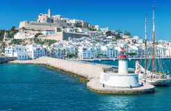Ibiza port, beautiful panoramic view on a sunny day Stock Photo