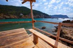 Ibiza Port de Benirras at Balearic Islands Stock Photography