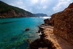 Ibiza Port de Benirras at Balearic Islands Royalty Free Stock Photos