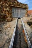 Ibiza Port de Benirras at Balearic Islands Royalty Free Stock Images