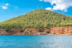Ibiza, praia do Sa Caleta imagens de stock
