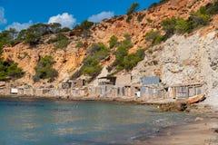 Ibiza, praia do Sa Caleta foto de stock