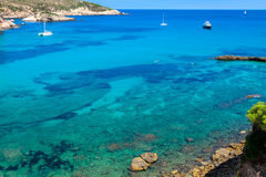Ibiza Punta de Xarraca turquoise beach paradise in Balearic Isla Royalty Free Stock Photo