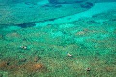 Ibiza Punta de Xarraca turquoise beach paradise in Balearic Isla Stock Images