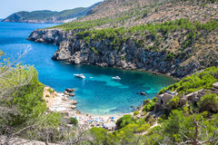 Ibiza Punta de Xarraca turquoise beach paradise in Royalty Free Stock Image