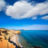 Ibiza Sa Caleta beach in south San Jose at Balearic Royalty Free Stock Photo