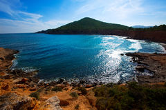Ibiza Sa Caleta beach in south San Jose at Balearic Stock Photo