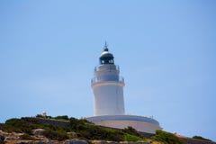 Ibiza Sa Conillera Conejera island lighthouse. In San Antonio royalty free stock photos