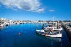 Ibiza san Antonio Abad de Portmany marina port Royalty Free Stock Photography