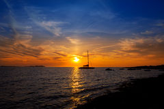 Free Ibiza San Antonio Abad De Portmany Sunset Royalty Free Stock Images - 34289739