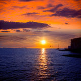 Ibiza san Antonio Abad de Portmany sunset Royalty Free Stock Photography