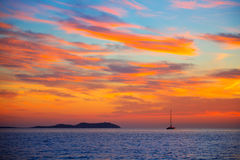 Ibiza san Antonio Abad de Portmany sunset Stock Photos