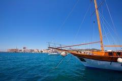 Ibiza San Antonio Abad Sant Antoni de Portmany sailboats Stock Image