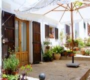 Ibiza Sant Joan Labritja San Juan白色房子 免版税图库摄影
