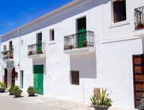 Ibiza Sant Joan Labritja San Juan white houses Stock Photography