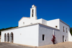 Ibiza Sant Mateu d Albarca San Mateo white church Stock Photos