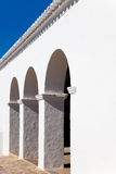 Ibiza Sant Mateu d Albarca San Mateo white church Royalty Free Stock Images