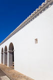 Ibiza Sant Mateu d Albarca San Mateo white church Stock Images