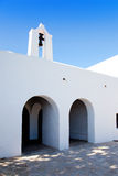 Ibiza Santa Agnes de Corona Ines white church Royalty Free Stock Images