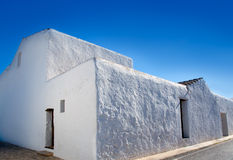 Ibiza Santa Agnes whitewashed houses Stock Images