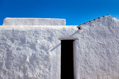 Ibiza Santa Agnes whitewashed houses Royalty Free Stock Photos