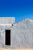 Ibiza Santa Agnes whitewashed houses Royalty Free Stock Images