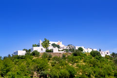 Ibiza Santa Eulalia del Rio hill houses Stock Images
