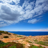 Ibiza Satorre in San Antonio Abad mediterranean view Royalty Free Stock Image