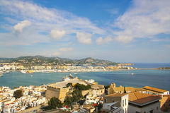 Ibiza serie Dalt Vila harbour Stock Photography