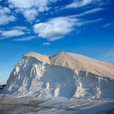 Ibiza ses Salines saltworks white salt mountain Stock Photography