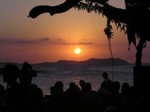Ibiza Sonnenuntergang Stockbild