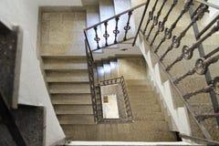 Ibiza, spain: escadas internas: espiral imagem de stock royalty free