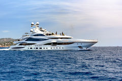 Lionheart yacht in the Sea Stock Image